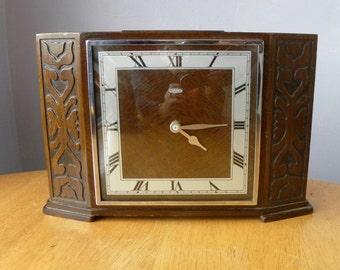 Vintage Clock - Metamec - Recycled Mantel Shelf Clock - 1950's Presentation Clock - The Prudential Assurance