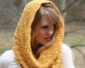 Crochet PATTERN Two Sizes Pattern Scarf Pattern Snood Cowl Scarf  Pattern Hood Scarf Pattern Instant Download Instructions for Two Scarves