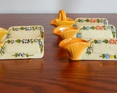 Antique Place Card Holders Ceramic Place Setting Markers Mid Century Dining