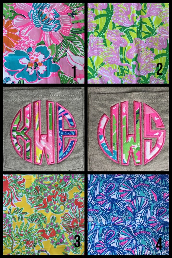 Lilly Pulitzer For Target Fabric Monogram Pocket By Memoandmom