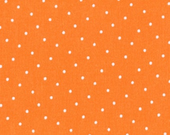 Intermix - Polka Dot in Orange - Dear Stella Fabrics - Stella-187-ORANGE - 1/2 Yard
