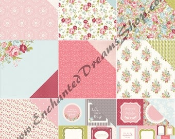 "Kaisercraft SECRET GARDEN 12"" x 12"" paper collection, 9 piece set"