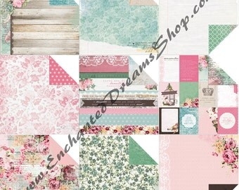 "Kaisercraft Oh SO LOVELY 12"" x 12"" paper collection, 9 piece set"