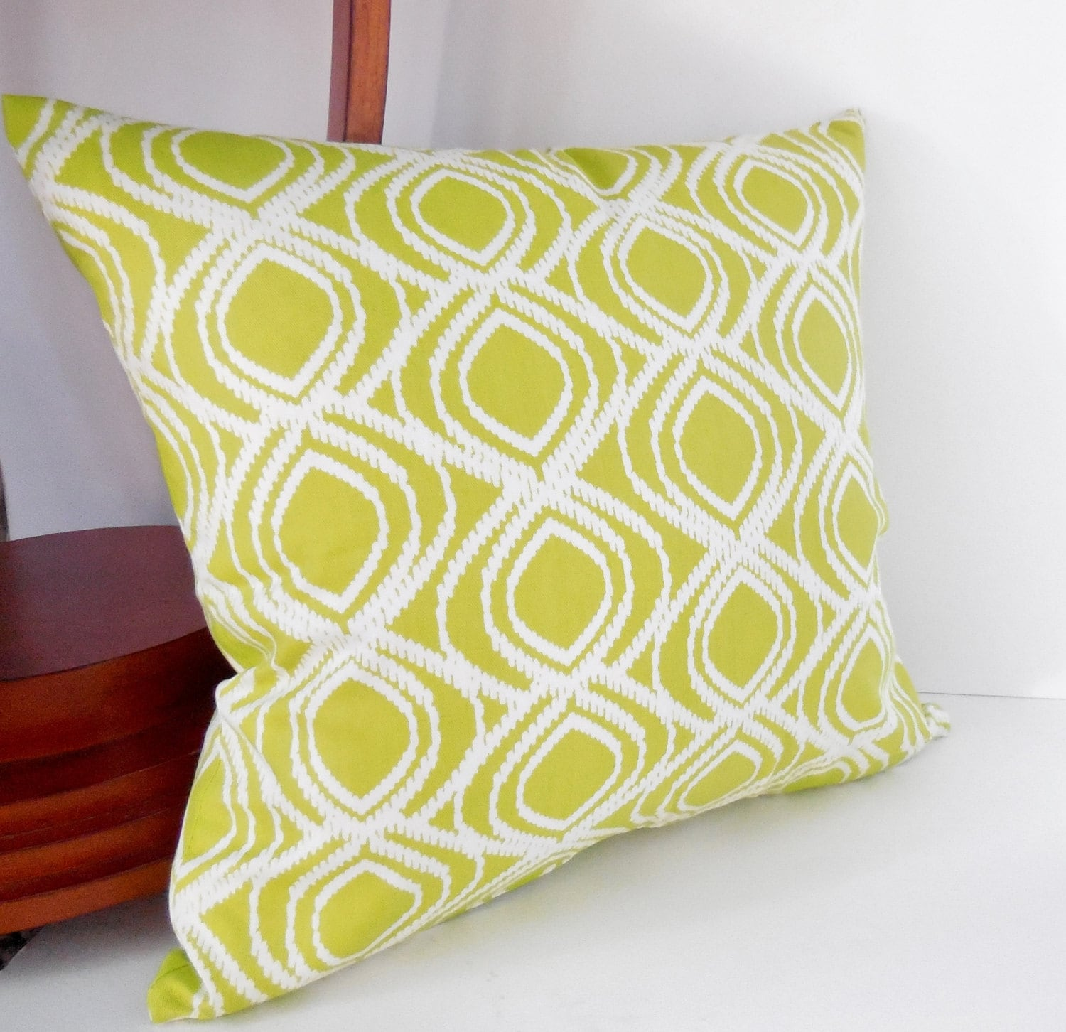 Modern White Pillows : Pillows Lime Green Green and White Modern Pillow Cover