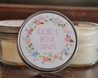 Set of 12 - 4 oz Sugar Scrub Bridal Shower Favor//Baby Shower Favor//Flower Favor//Baby Girl Favor//Baby Boy Favor//Customized Sugar Scrub