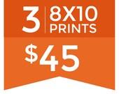 Pick any 3 prints - 3 piece 8x10 print bundle - Choose your prints - Modern funny art set for kitchen, laundry room, nursery, office decor