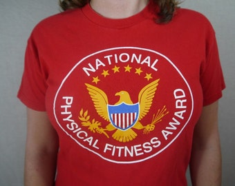 Vintage National Physical Fitness Award T Shirt