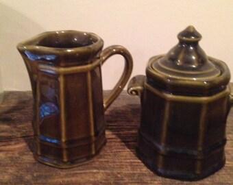 Vintage Creamer & Sugar Bowl