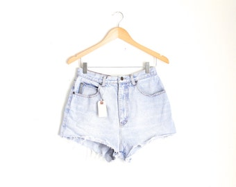 "Waist 29"" High Waisted Vintage Denim Shorts"