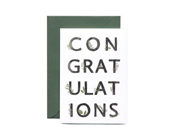 Congratulations Botanic Illustrated Greeting Card