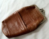 1970's leather cigarette case & coin purse