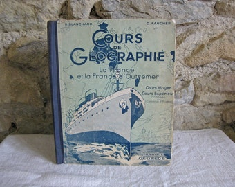 French Geography book cours de geographie