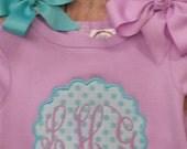 Infant girls monogrammed onesie
