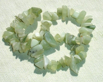 Large Green Gemstone Chip Bead Lot - Jewelry Making Supplies