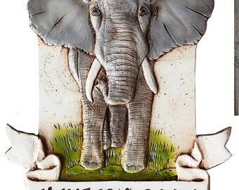 Kids Room Elephant Personalized Sign