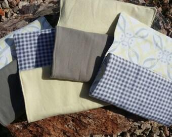 Set of 4 Gender Neutral Baby Burp Cloths