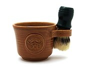 Wet Shaving Mug for Dads with a Mustache: Shave Mug, Made to Order Gift for Fathers - Brush NOT Included - Made to Order Allow 6-8 weeks