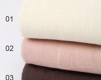 Cotton fabric, Three Layer Transparent fabric Solid Fabric,Pure half yard (QT504)