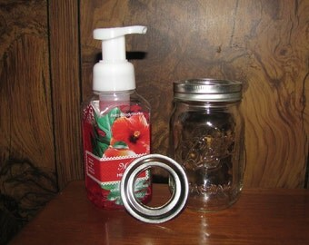 Bath and Body Works Foaming Hand Soap to Mason Jar Conversion LID (Reg or Wide Coated LID)