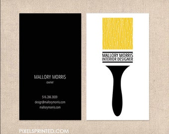 interior design DELUXE business cards - painter business cards - thick, color both sides - FREE UPS ground shipping
