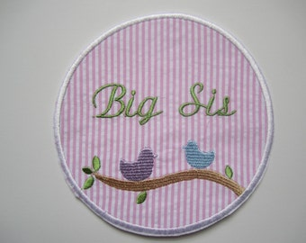 Birds FREE personalization embroidered applique patch