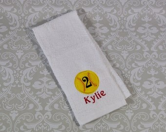 Personalized Softball Sport Towel ST015