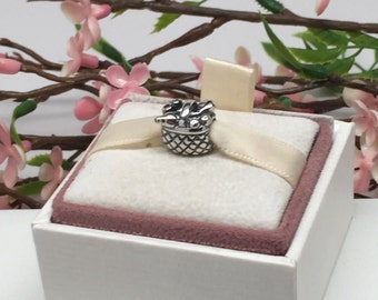Authentic RETIRED Pandora Charm For Bracelet PICNIC BASKET