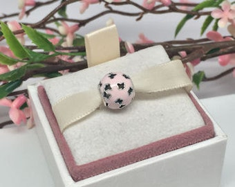 Authentic Pandora Fluttering Butterflies Pink Enamel charm in original box BEAUTIFUL