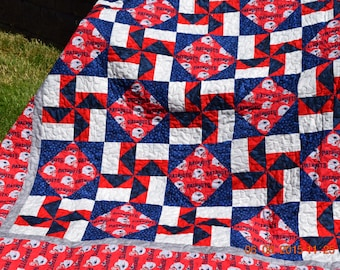 New England Patriots Quilt (Made to Order)