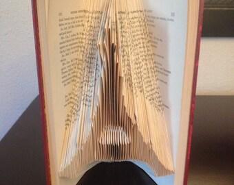 Eiffel Tower Folded Book Art Book Sculpture