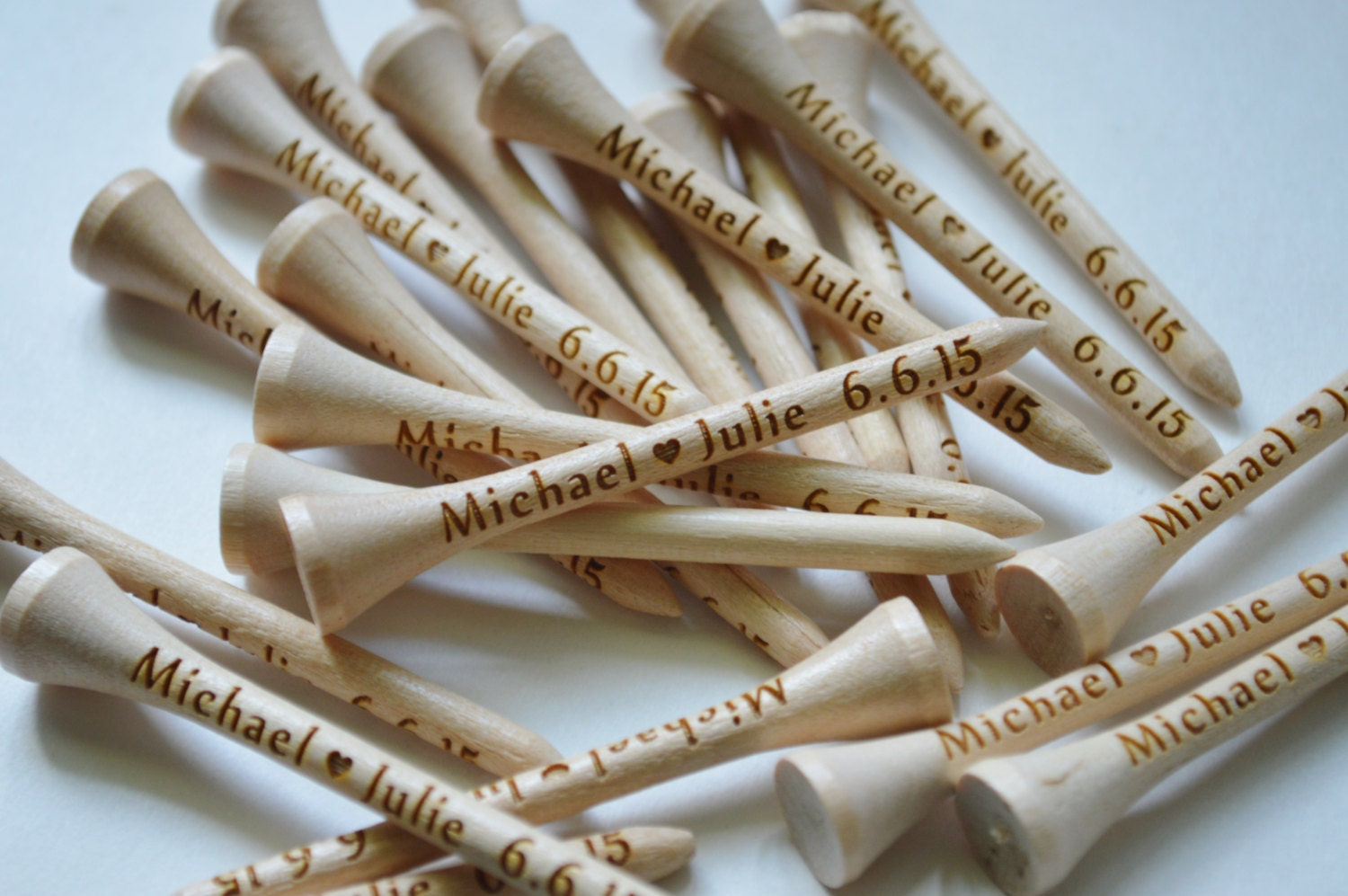 20 Personalized Golf Tees Wedding Favors Fathers Day