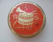 """most rare vintage soviet tin box container """"Pioneer"""", from candy, made in USSR in 50-th"""