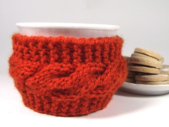 KNITTING PATTERN Cozy Cup - Lazy Morning - Coffee Knit Mug Cozy Sleeve Patter...