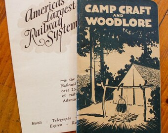 Vintage Ephemera Canadian National Railway Camp Craft and Woodlore Brochure Pamphlet