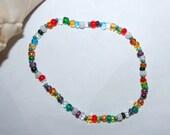 Anklet  Mixed Glass Beaded Handmade Jewelry Transparent Jewel Seed Beads Boho Women's Gift JewelryTeen Accessories by CzechBeaderyShop