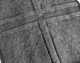 Knitting Pattern For Union Jack Blanket : Union jack blanket Etsy