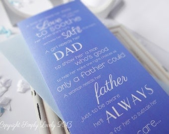 Beautiful 'Word' Card for Dad...