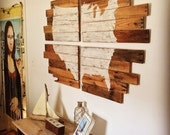 USA Map - Rustic Wall Decor