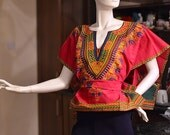 DASHIKI TOP | African Dashiki WOMENS Top| Unique Dashiki Style| African Clothing | African Poncho Top | Tunic Dashiki | Blogger Style Tops