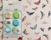 Badges / Adhesive Buttons Love Owl for Project Life, Planners and Scrapbooking