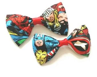 Marvel Avengers Fabric Hair Bow