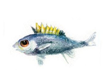 Watercolor Baby Tuna, Baby Tuna Print