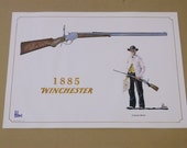 "Vintage 1968 Fred Fellows ""1885 Winchester"" Print,Signed by the Artist"