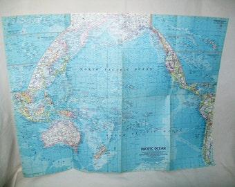 Vintage Maps National Geographic 1960's YOUR CHOICE