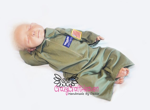 Baby Flight suit Newborn 12m Air Force baby Baby airman