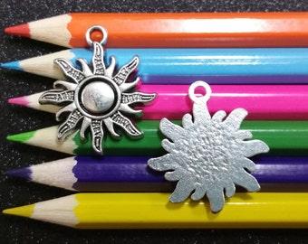5 PCS - Celestial Sun Weather Silver Charm Pendant C0288