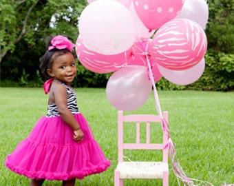 Adorable Zebra Hot Pink Halter Dress