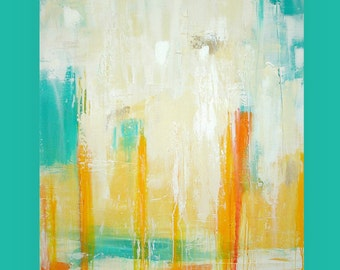 Art, Painting,Abstract Art, Acrylic Paintings, Original Art on Canvas by Ora Birenbaum Titled: SPLASH 30x40x1.5""