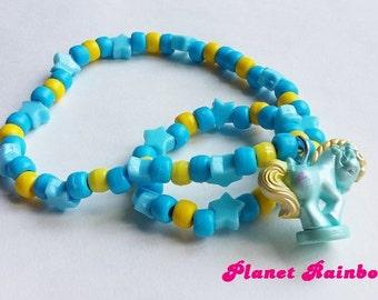 My Little Pony Figurine Kandi Necklace - Matching Bracelet - Rave Kawaii