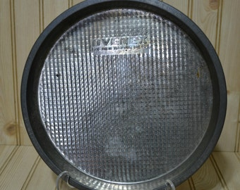 Vintage Ovenex Baking Pan Metal Round The New Baking Metal  Waffle Texture
